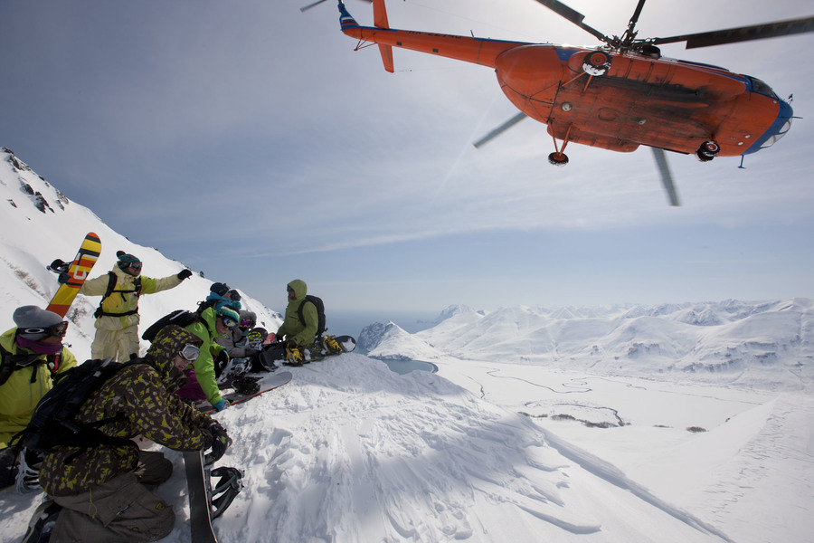 Хелиски и хелибординг с Хелипро, Камчатка. Heliski and Heliboarding with Helipro, Kamchatka