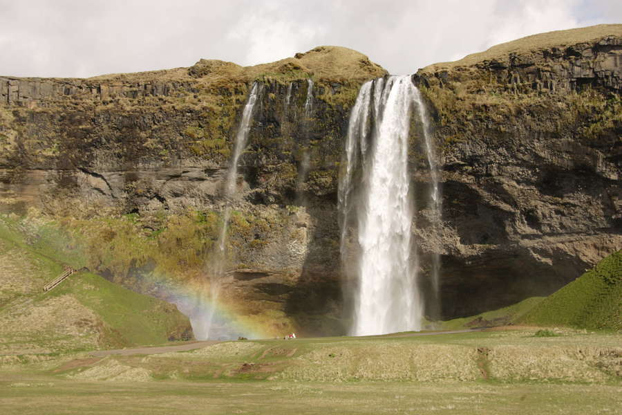 Природа Исландии, водопад Сельяландфосс, Nature of Iceland, Selijalandfoss Waterfall
