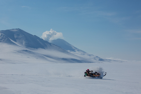 One-day snowmobile fun in Kamchatka