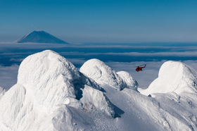 Heliskiing on Kuril islands